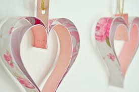 heart decorations paper heart decorations garland tutorial girl about townhouse