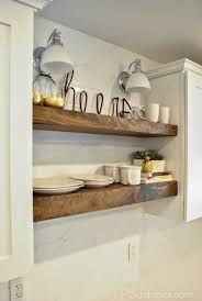 diy floating kitchen shelves easy storage ideas shelf solutions