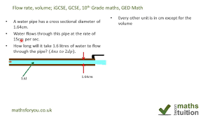 volume flow rate volume igcse gcse 10th grade maths ged math