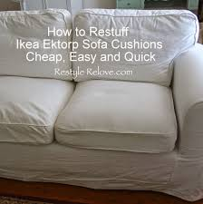 housse de canapé ikea pas cher how to restuff ikea ektorp sofa cushions cheap easy and