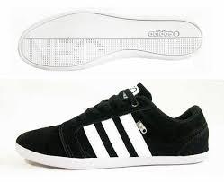 jual sepatu kets adidas neo black white thonxsports shop