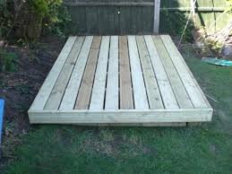 How To Build A Shed Base Out Of Wood by Sheffield Landscaper Gallery Patios Decking Ponds Fencing Sleepers