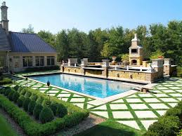 outdoors swimming pool designs and landscaping ideas with