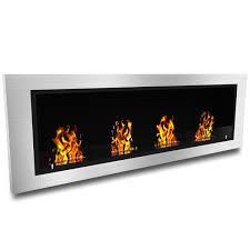 amazon com elite flame luxe recessed ventless bio ethanol wall