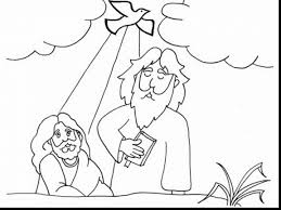 extraordinary john baptized jesus coloring page with baptism