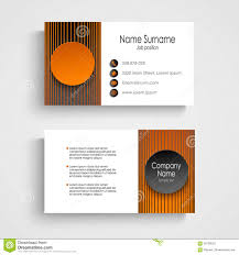 modern orange round business card template stock vector image