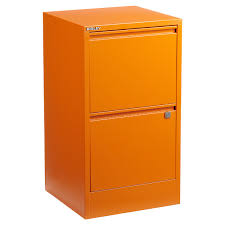 Bisley Orange 2 3 Drawer Locking Filing Cabinets The Container