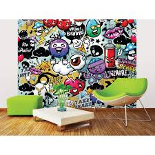 brewster 118 in x 98 in graffiti monster wall mural wals0004 graffiti monster wall mural