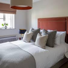 neutral bedroom with burnt orange accents bedrooms pinterest