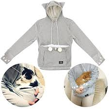 amazon com women u0027s mewgaroo pet holder hoodie cat ear hooded