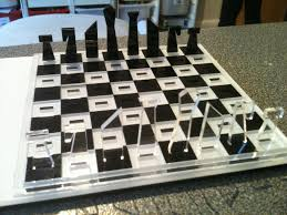 laser cut travel chess set