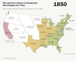 map of mexico and america how america s source of immigrants has changed time