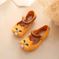new style squirrel girls sandals baby shoes jelly soft insole pvs