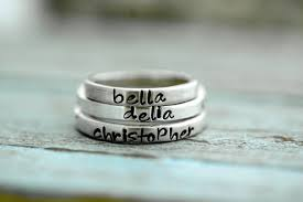 personalized stackable rings stacking ring sted silver name stack