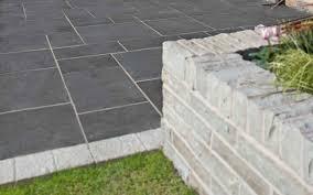 black limestone patio slabs room design decor simple with black