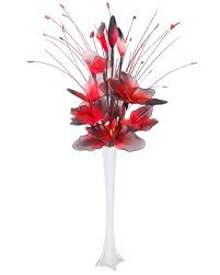 Black And Red Vase Vases Awesome Silk Flowers In Vases Astounding Silk Flowers In
