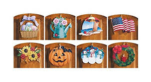 Easter Door Decorations Shop by 10 Piece Set Multi Holiday Interchangeable Seasonal Welcome Sign