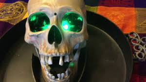 scary halloween candy bowl gemmy scary skull candy bowl led eyes version youtube