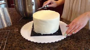 how to frost a cake with a paper towel youtube