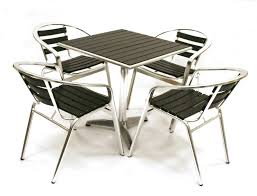 Tall Patio Tables Furniture Sturdy Outdoor Restaurant Furniture Brown Stained Bar
