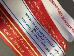 funeral ribbon personalised funeral ribbon cheshire flowers stockport greater