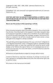 pdf manual for lowrance gps globalmap 100