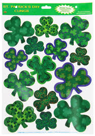 amazon com pkgd printed shamrock cutouts 10 pkg kitchen u0026 dining