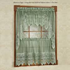 Green Kitchen Curtains Decoration Lace Kitchen Curtains Vintage Country 1 2 Mini Blinds