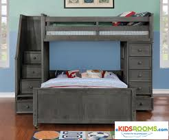 Kids Bunk Beds Twin Over Full by Multifunction Loft Bed In Driftwood Gray Allen House Kids Loft