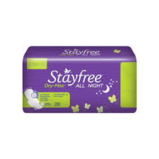 buy stayfree dry max all night sanitary napkin extra large wings