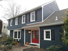 what color would you paint your house colonial exterior and