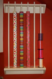 wrapping paper holder idea for a wrapping paper holder this doesn t look
