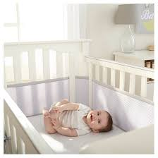 breathable baby deluxe mesh crib liner gray target
