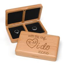 personalized i do wooden wedding ring box u2013 candy cake weddings
