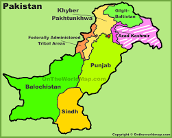 administrative divisions map of pakistan jpg