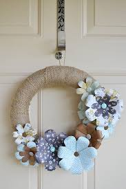 Homemade Flowers We R Flower Punch Board Wreath Scrapbook Com Homemade Paper