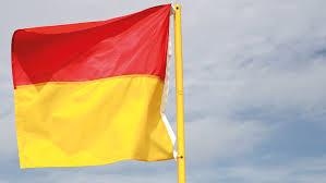 Pa Flag Flag På Stranden