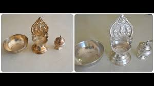 Household Brass Cleaner How To Clean Polish Silver Pooja Items At Home Youtube