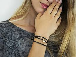leather women bracelet images Leather women bracelet gold bracelet for women triple wrapped jpg