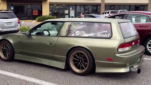 custom nissan 240sx hacked nissan silvia wagon nissan 240sx chopped turbo drift wagons