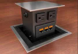 conference table power outlets conference table telecom panel hdmi vga cat5e connectors