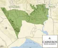 California Wine Country Map Location Carneros Wine Alliance