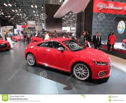alfa romeo logo audi in front of alfa romeo logo on the screen 2015 new york