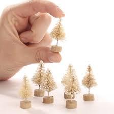 bulk frosted white sisal trees miniatures