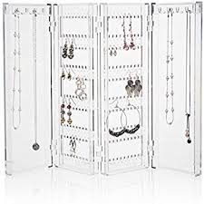earring necklace organizer images Clear plastic foldable earring and necklace organizer jpg