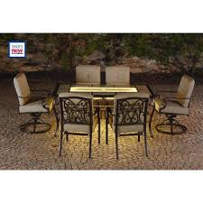 Lazy Boy Dining Room Chairs La Z Boy Outdoor Halley 7pc Dining Set With Lighted Table