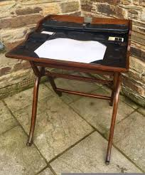 antique 19th century folding campaign writing table desk 436341
