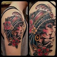 Girly Tattoo Sleeve Ideas Best 25 Traditional Gypsy Tattoos Ideas On Pinterest American