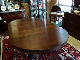 54 Inch Round Dining Table With Leaf Mahogany Dining Table Federal Empire Style 5 Leaves From