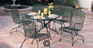 Iron Patio Table And Chairs Wrought Iron Patio Furniture At Home And Interior Design Ideas